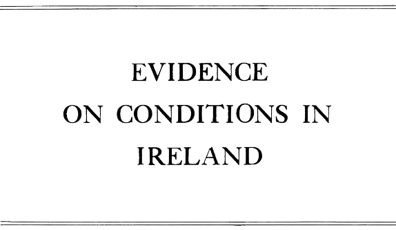 <div class='ocr-h2'>EVIDENCE ON CONDITIONS IN IRELAND </div>